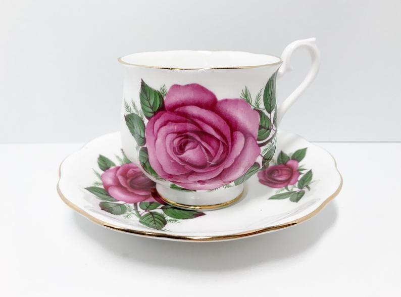 Big Rose Cups Royal Albert Teacups Vintage Antique Teacups Etsy Tea Cups Vintage Tea Cups Antique Tea Cups