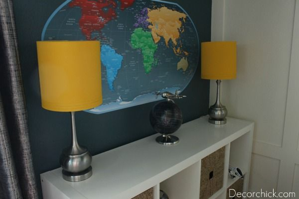 loving the map & lights for the boys' room!  via @Decorchick