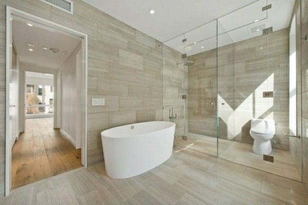 Minimalist Bathroom Glass Shower Stall Tile Wood Optics Bathrooms Fascinating Bathroom Stal Minimalist