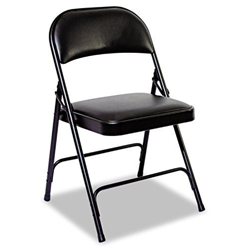 Alera Fc96b Steel Folding Chair With Two Brace Support