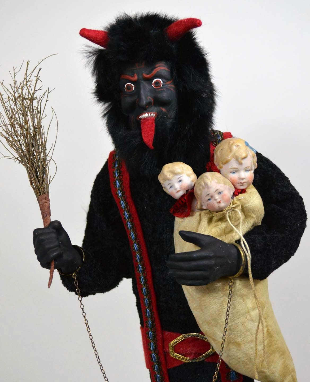Krampus A German Invention Krampus Would Visit Bad Children At Christmas Instead Of Santa Two Sisters Studios Gallery