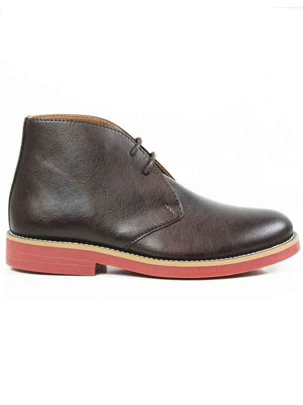 Wills Vegan Shoes Chukka boots - Botas para hombre Marrón marrón oscuro z8bVLIFQo7