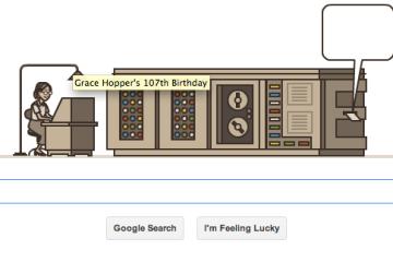 Google Doodle Honors Grace Hopper Early Computer Scientist Google Doodles Grace Hopper Silicon Valley