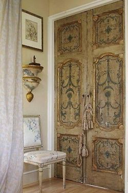Beautiful French Hand Painted Interior Doors