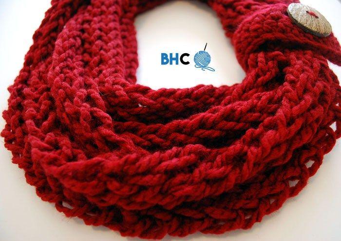 Finger Knit Infinity Scarf | Finger knitting, Infinity and Finger