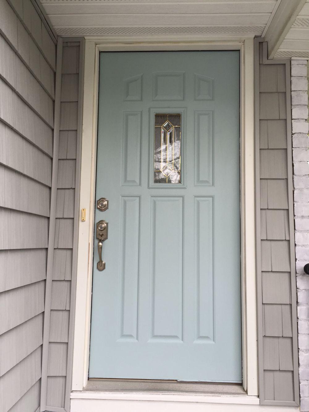Gossamer Blue Benjamin Moore Paint Gray Home White