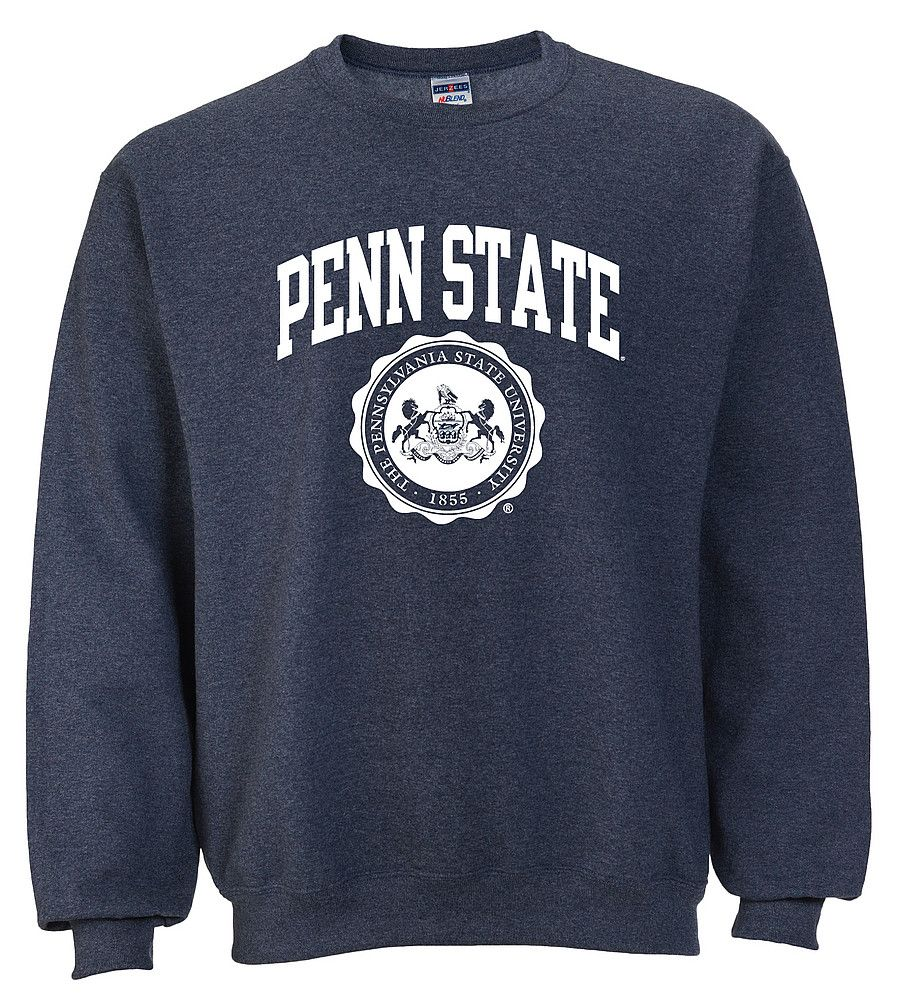 Penn State Crew Neck Sweatshirt Official Seal Heather Navy Sweatshirts Crew Neck Sweatshirt State Sweatshirt [ 1001 x 903 Pixel ]