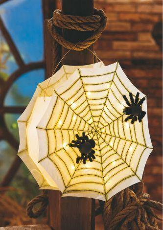 Spinnennetz-Laterne - Kostenlose Anleitung. ✓ Einfach nachzumachen ✓ Material online bestellen ✓ #halloweencraftsfortoddlers