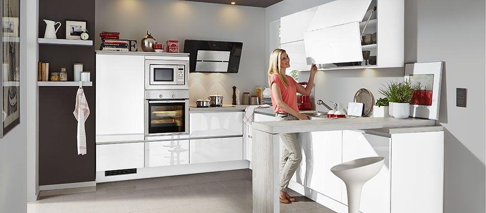 Trendstarke Einbauküche Mit Griffloser Lackfront Haus
