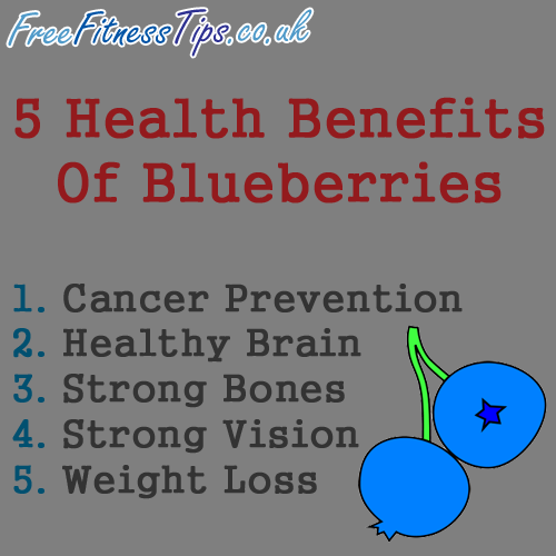 5 Health Benefits Of Blueberries  http://www.pinterest.com/freefitnesstips/