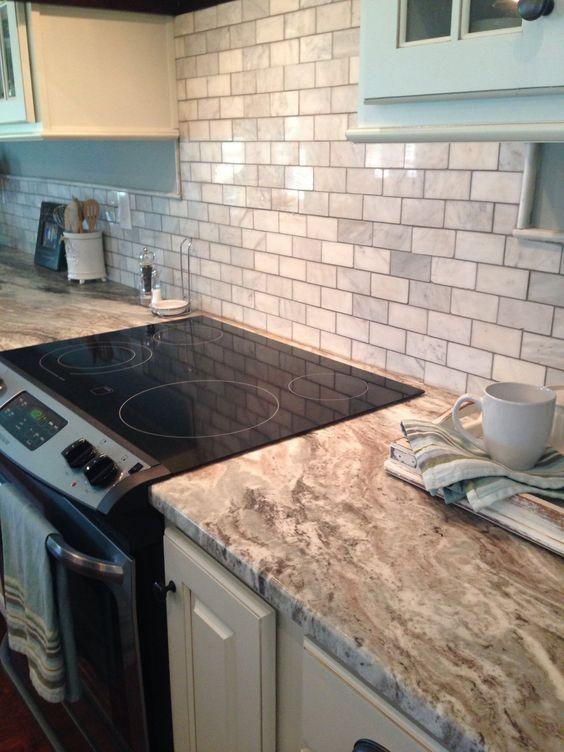 Fantasy Brown Granite And Marble Tile Sheet Backsplash