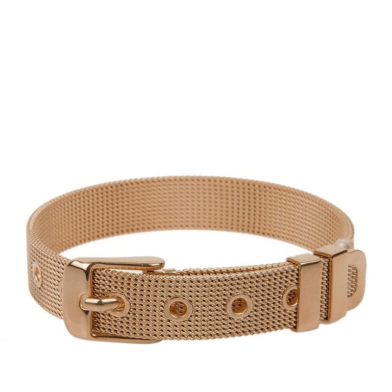 Metal Bangle With Buckle - Rose Gold - Trendy - Bracelets | CHARLES & KEITH