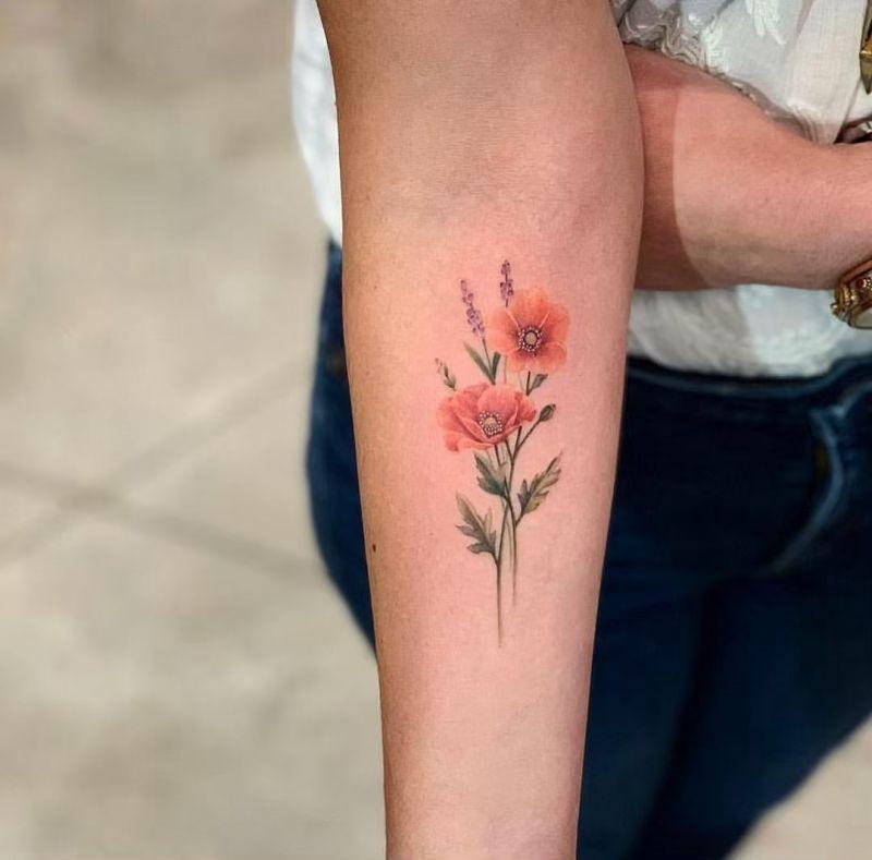 Www Diybig Com In 2020 Mohnblumen Tattoo Lavendel Tattoo Mohn Blume Tattoo