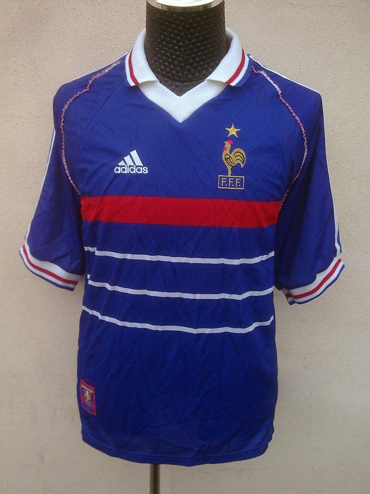 Maillot Equipe de France 19981999 #CDM #Champion #FFF #9ine