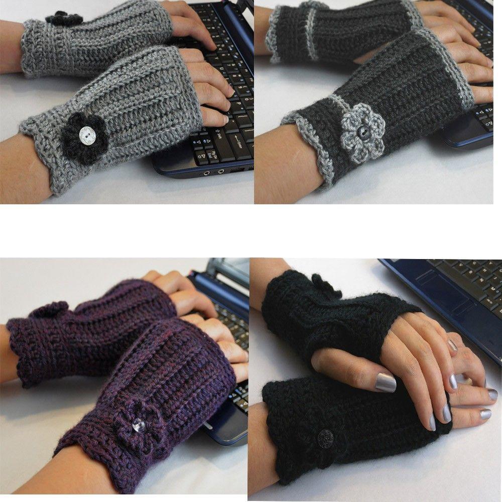 guantes sin dedos … | patrones 2 agujas | Pinterest | Guantes sin ...