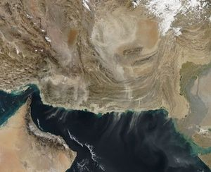 Dust over the Gulf of Oman