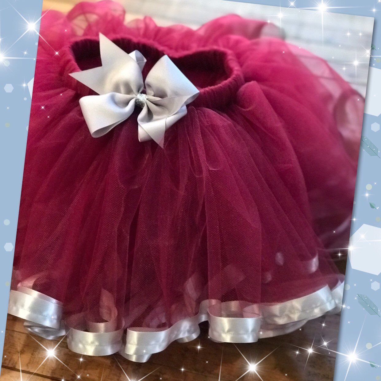 4e43d94abc Excited to share this item from my #etsy shop: Ballerina Tutu Skirt/ Burgundy  Tutu Skirt/Flower girl Tutu/ Burgundy and Silver Tutu/ Birthday Tutu Skirt/  ...