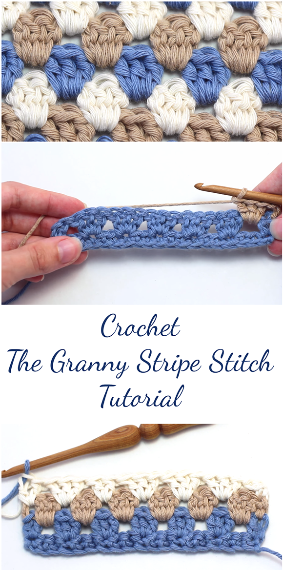 Crochet The Granny Stripe Stitch Tutorial + Free Video