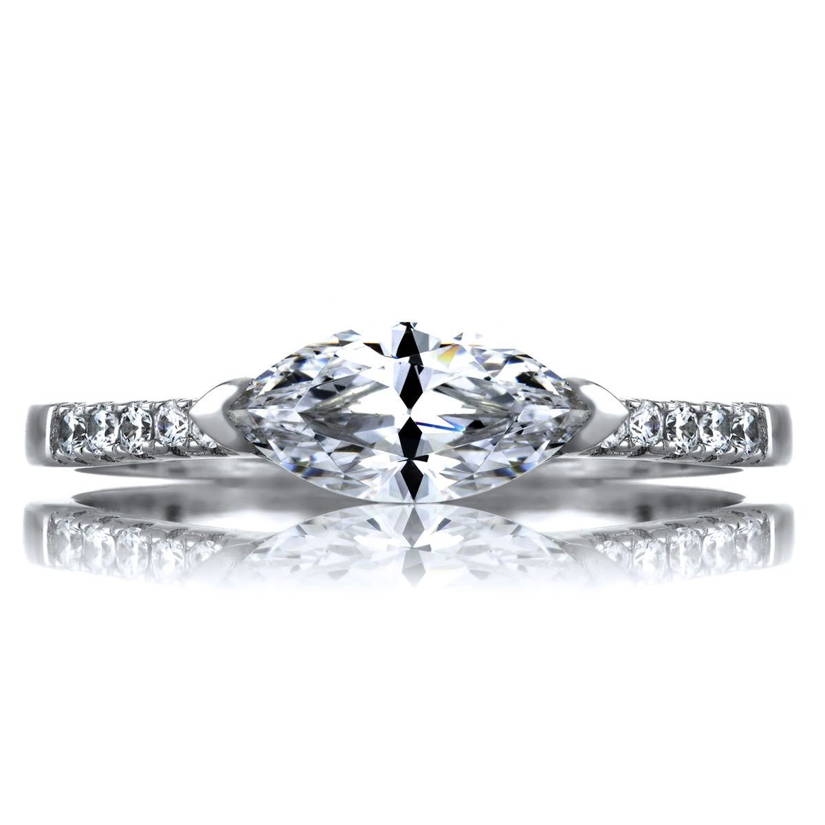 Marquise diamond setting ideas - Paxton S 1 25 East West Set Marquise Cz Engagement Ring