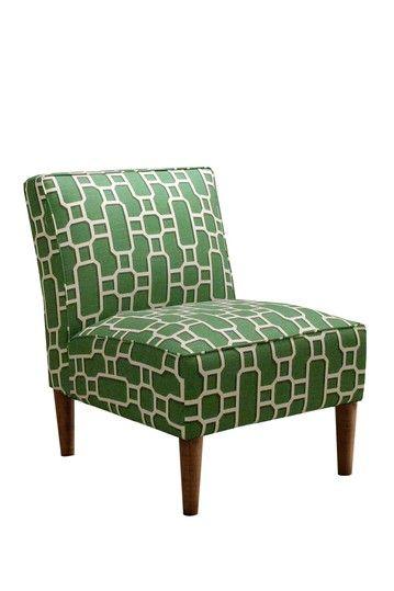 Gold Coast Furniture Collection Slipper Chair Mandarin Emerald