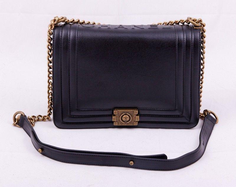 b1bfb8214ef8 Сумка кожаная CHANEL Boy черная !! Последняя распродажа модели !! Продаётся  с большой скидкой !! !! Отличное качество и низкая цена !!