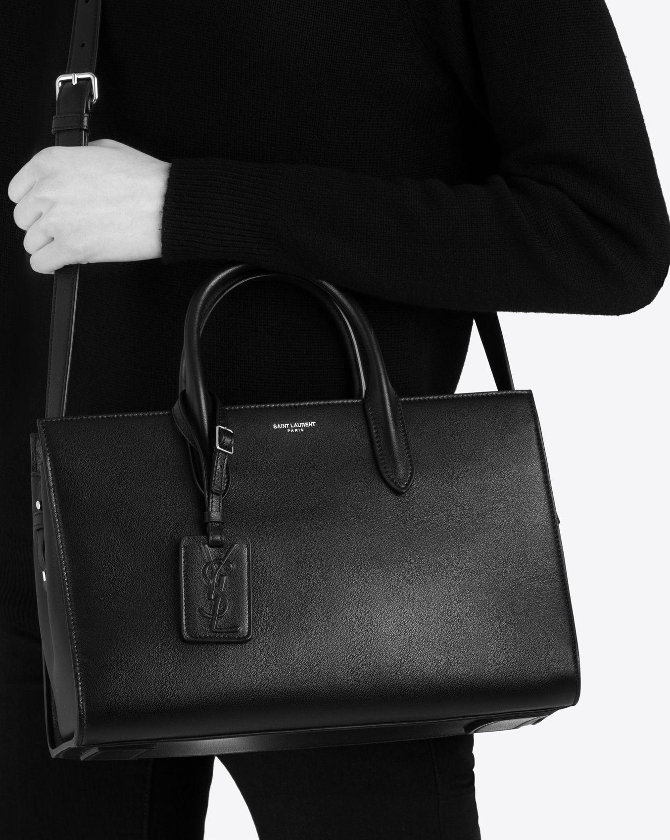 55d82fae8 Saint Laurent Medium JANE Tote Bag In Black Leather | YSL.com ...