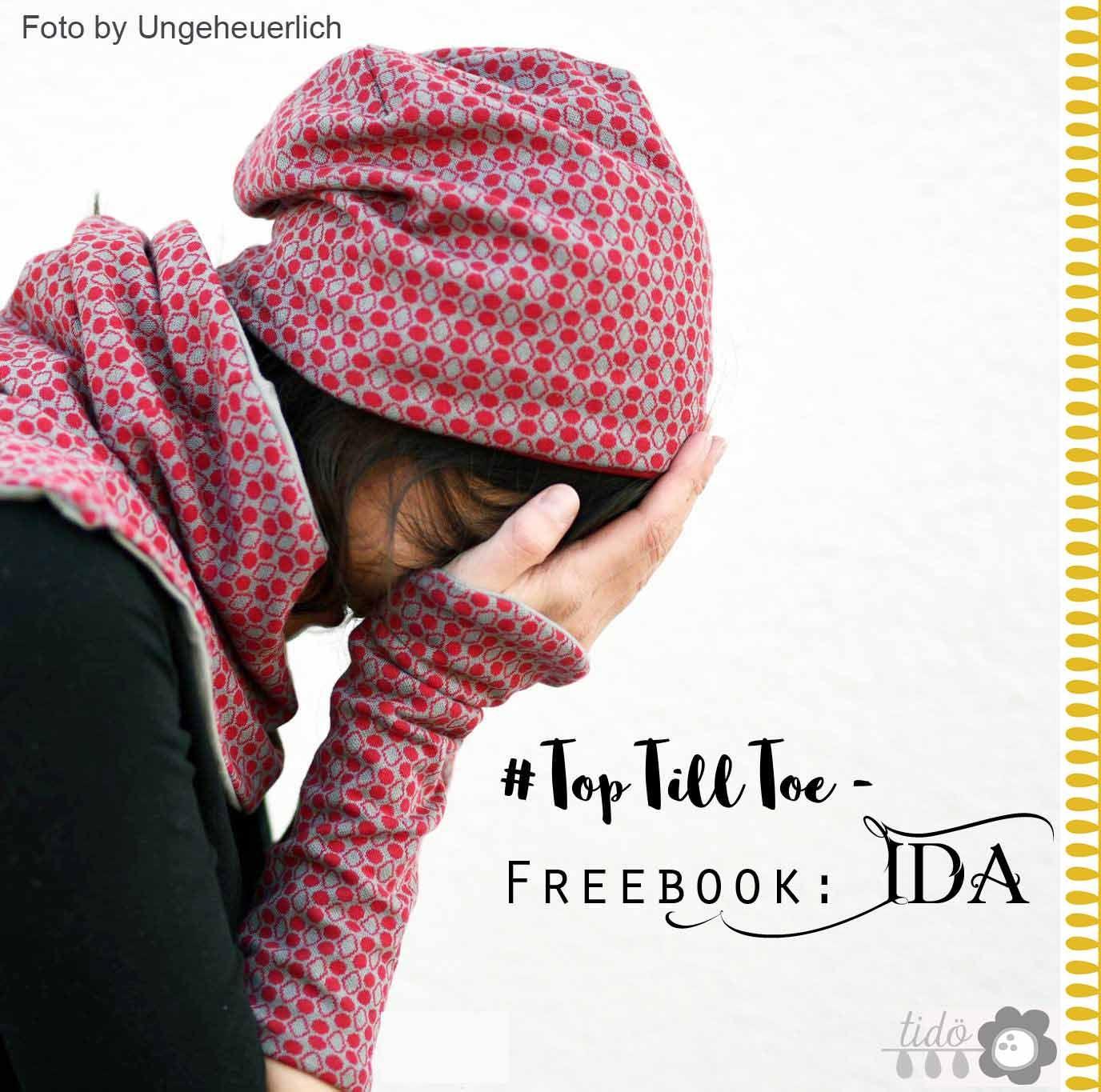 Freebook: Ida mit Handstulpen und Loop #keinekleidungnähen