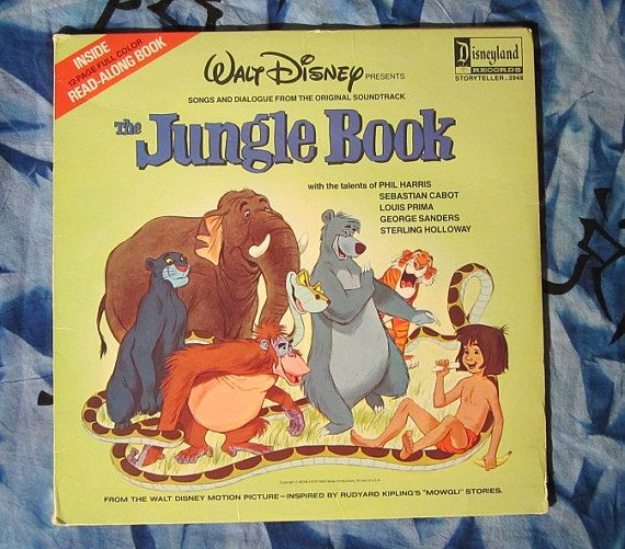 Walt Disney Presents The Jungle Book 1978 Children S Soundtrack Disney Land 3948 Lp Vinyl Record With In Jungle Book Disney Presents Disney Animated Classics