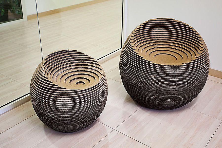 Seduta Sfera Design Pietro Carlo Pellegrini Meuble En Carton Mobilier En Carton Chaise En Carton