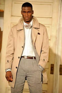 Pocket square in trench pocket #fashion