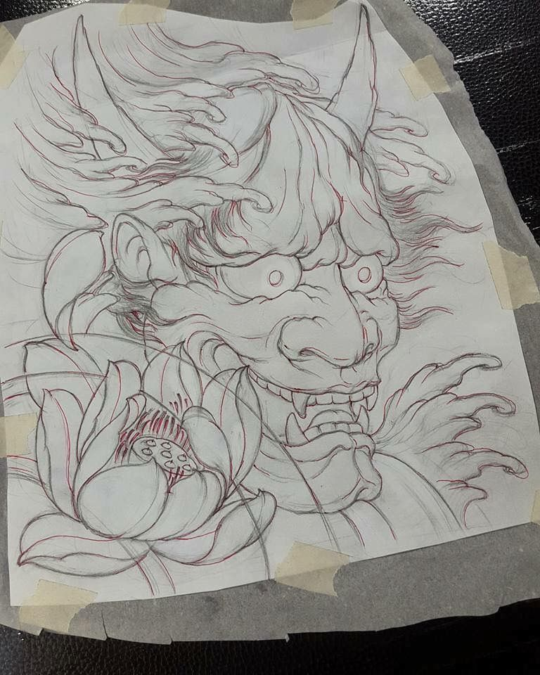 Sketch For A Japanese Sleeve: Pin By Ant Tran On Asian Designs