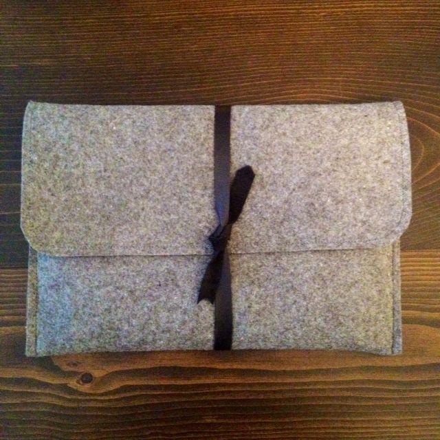 e395e86831e9 Creating a custom DIY felt and leather laptop sleeve. | sewing ...
