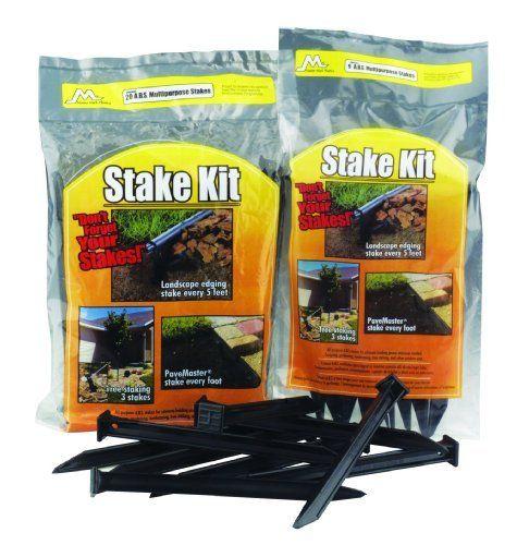 Plastic landscape edging stakes : Master mark plastics inch abs plastic stake