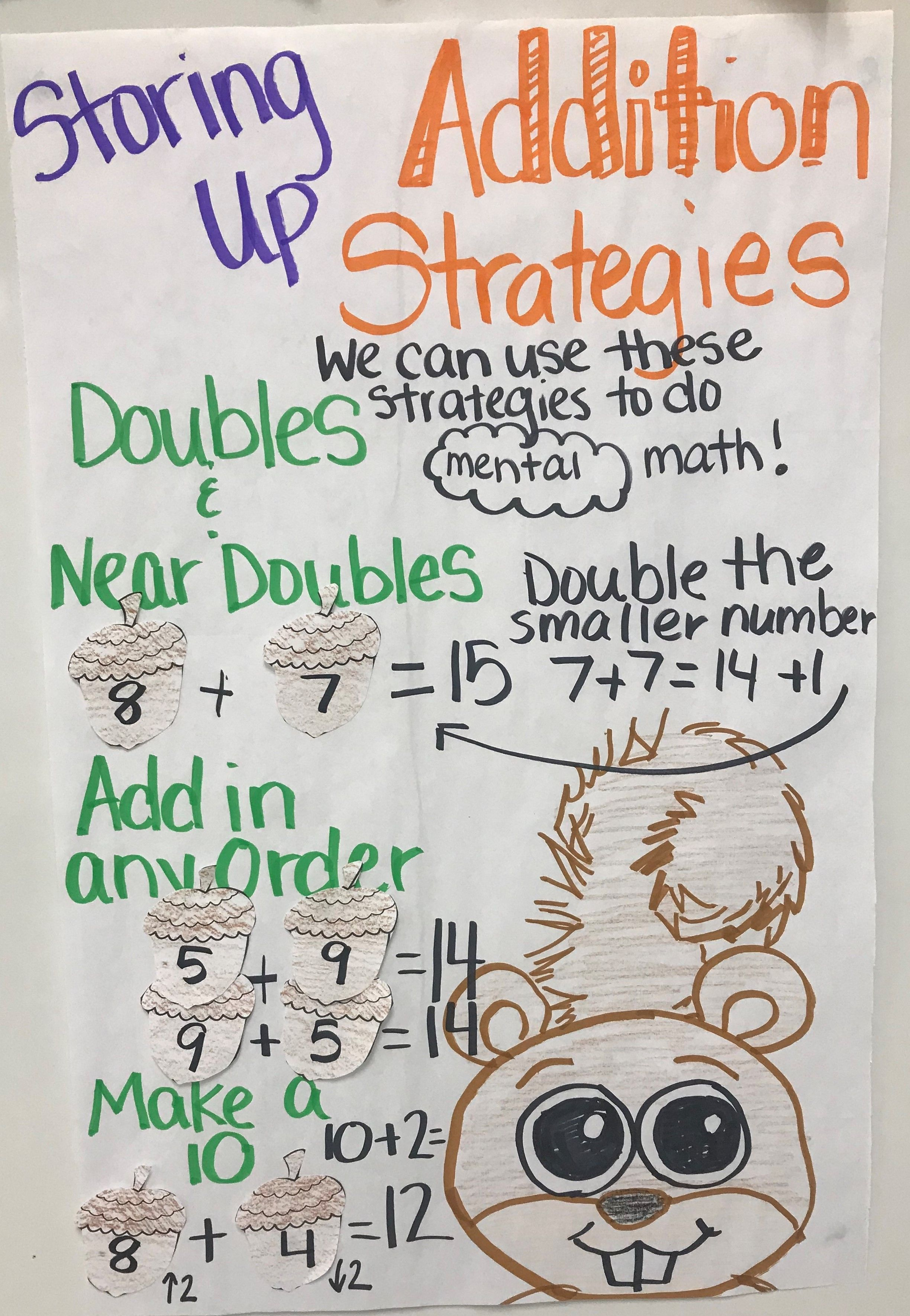 Storing Up Addition Strategies