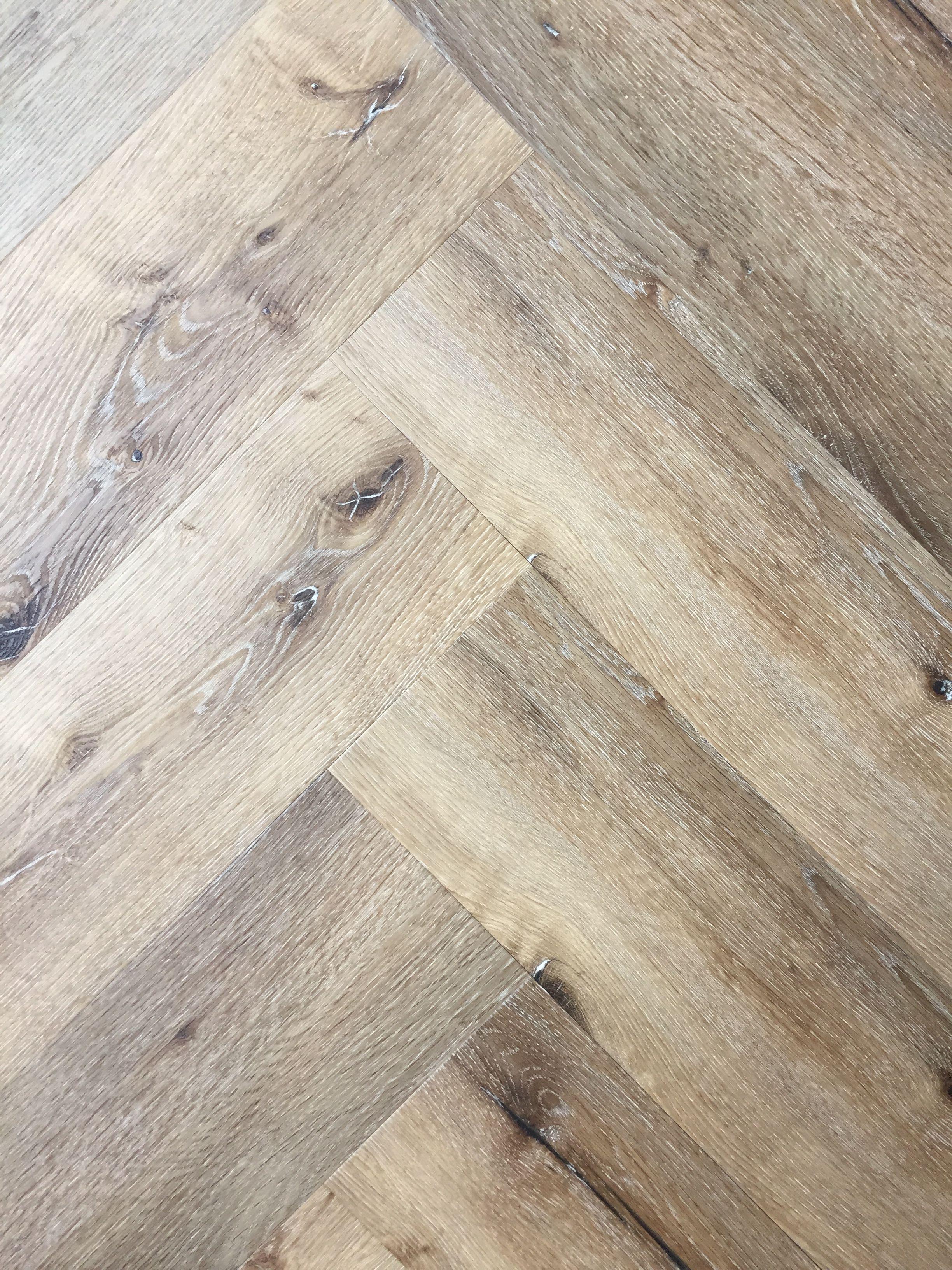pvc visgraat vloer dark oak donker eiken herringbone home