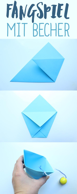 BecherFangSpiel Aus Papier Basteln Crafting For Kids - Paper minecraft jetzt spielen