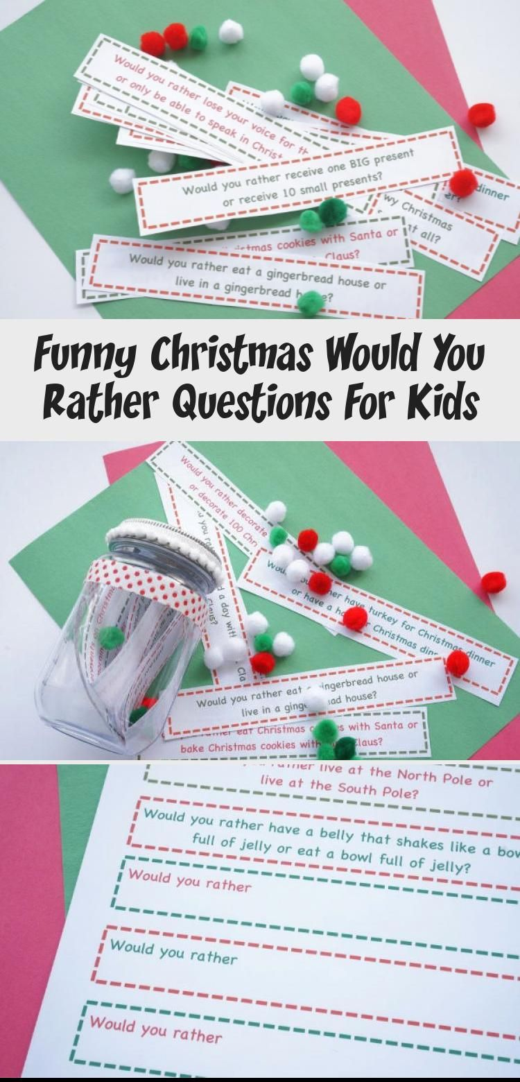 Funny Christmas Would You Rather Questions For Kids in