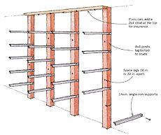 Vertical lumber storage rack plans google search for Vertical lumber storage rack