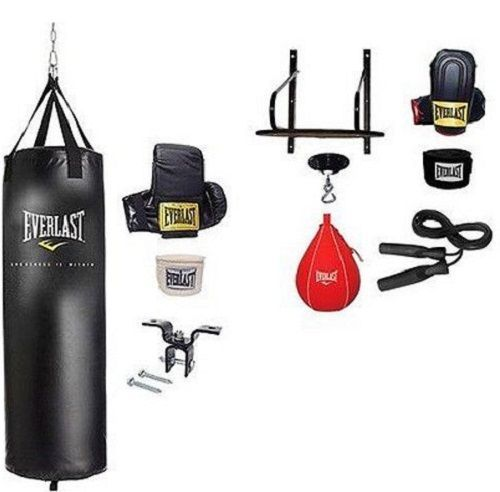 Home Gym Heavy Bag: Heavy Punching Bag Boxing Set Everlast Speed Platform Kit
