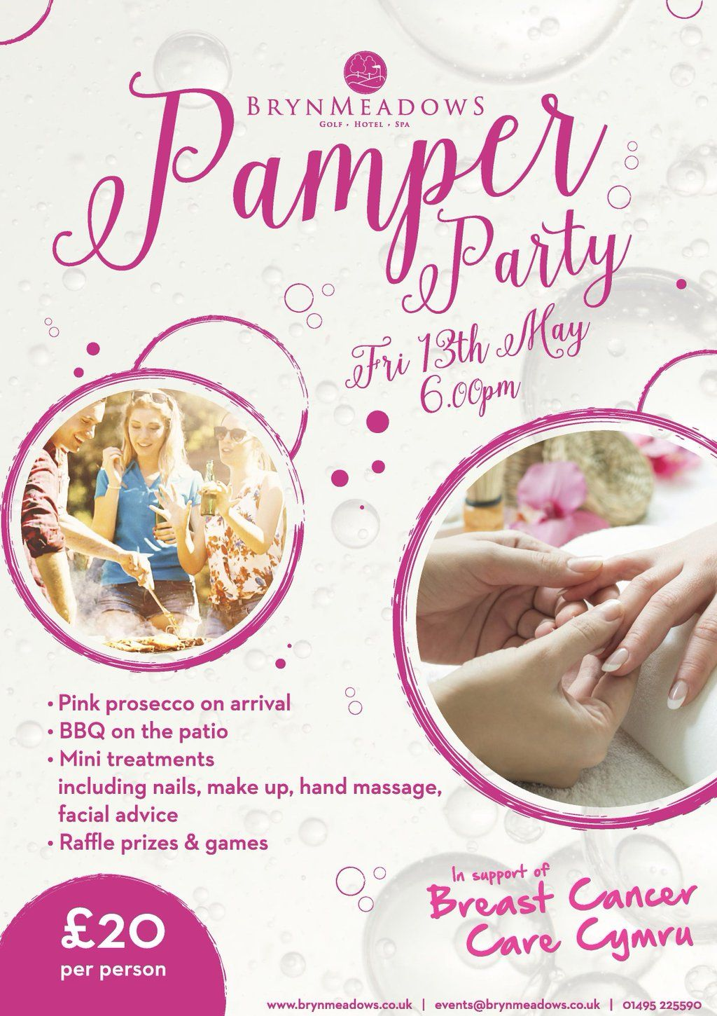 Prosecco Pamper Party Google Search Charity Pamper