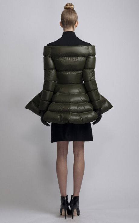 7041fb643 Puffer Coat With Full Skirt by Marios Schwab for Preorder on Moda ...