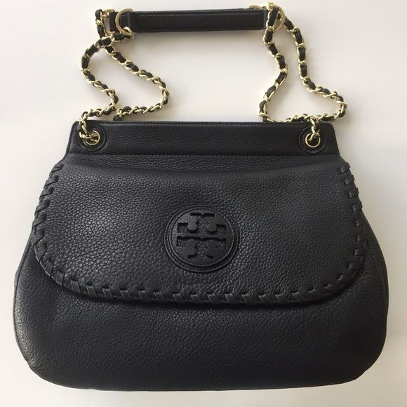 3c9ae942139 New Tory Burch Marion Saddle Black Bag New and authentic bag with dust bag.  Without