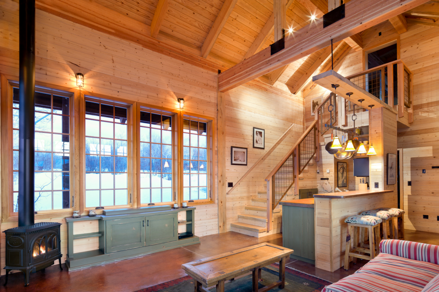 So Cute And Great Function In This Tiny 800 Square Foot Colorado Weekend Get Away Cabin