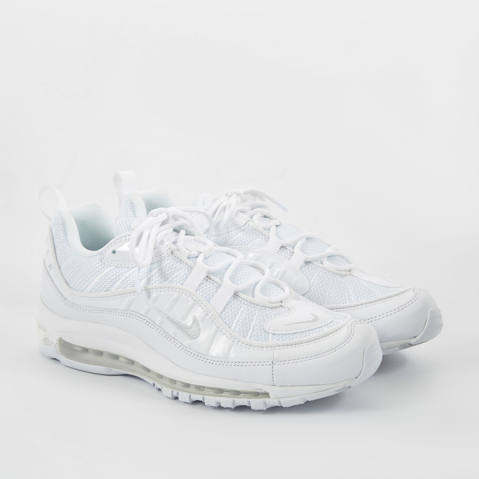 nike air max 98 white pure platinum & black