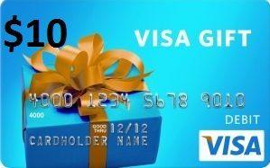 $12 Visa Gift Card  Prepaid gift cards, Free gift cards, Visa