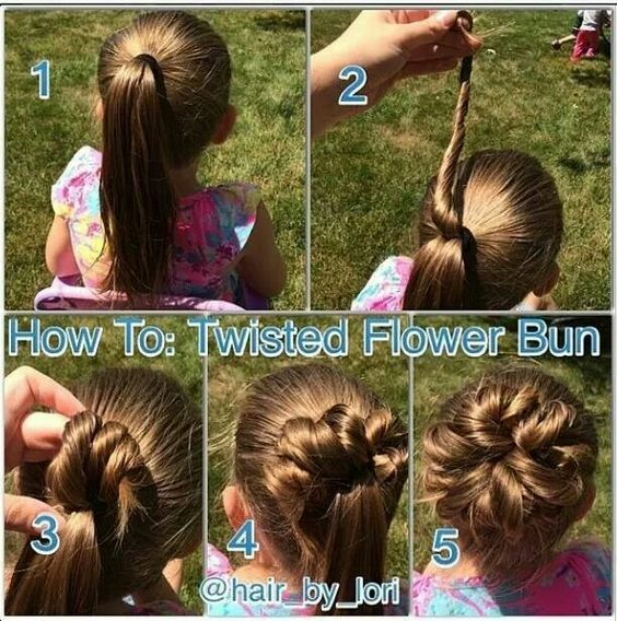 This Hairstyle Is Great For Little Girls Or Even An Easy Wedding Hairstyle For A Flower Girl Or Bridesmaid Hair Styles Girl Hair Dos Girl Hairstyles