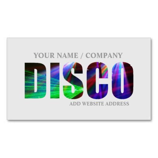 Disco Business Card Zazzle Co Uk Custom Business Cards Business Cards Business Card Design