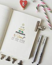 Photo of 16 atemberaubende Dezember-inspirierte Bullet-Journal-Spreads + Dezember-Plan mi…
