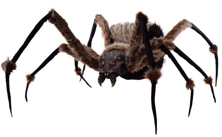 Spider 6 Ft Monstrous Posable Prop Led Eyes Haunted House Halloween Decoration Halloween Haunted House Decorations Halloween Spider Decorations Halloween Props