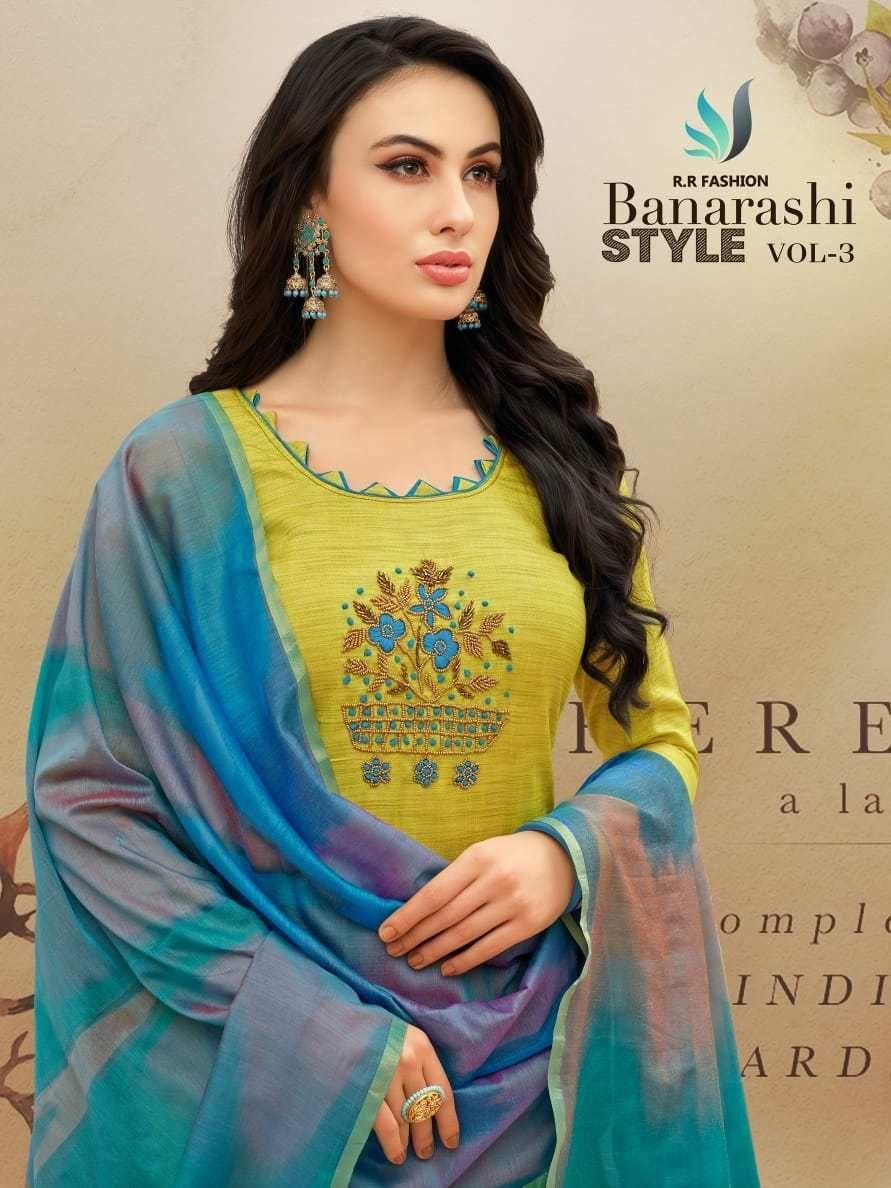 0a054aff07 R r fashion presents banarashi style vol 3 simple casual wear salwar kameez  collection. Churidar Neck Designs, Pakistani Salwar Kameez, Salwar Suits,  ...